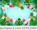 Summer tropical background with exotic palm  42932080