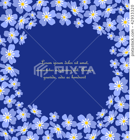 Vector blue forget me not flowers 42933320
