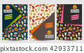 Fast food flyer set. Poster template for magazine 42933711