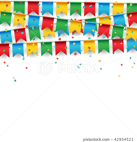 Party celebration flag on white background 42934521