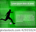 soccer player on the abstract background 42935024