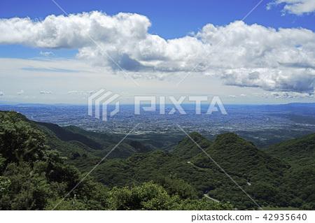 View of Kanto plain from Haruna mountain viewing platform 42935640