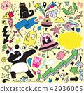 doodle, vector, illustration 42936065