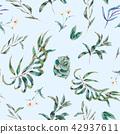 watercolor succulent seamless 42937611