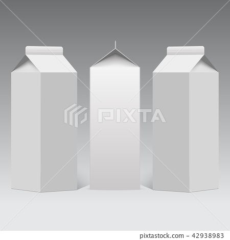Milk or juice carton packaging package box. Vector 42938983