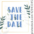 Save The date text design  42943345