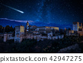 Perseid Meteor Shower over Alhambra 42947275