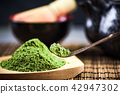 Close up view on green Matcha tea 42947302