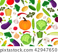 Vector pattern of Fruits and Vegetables 42947650