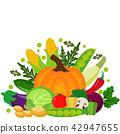 Vector vegetables illustration.Vegetables icons 42947655