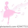 芭蕾 芭蕾舞女 剪影 42947733