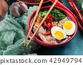 Ramen. Traditional japanese noodle soup with pork 42949794