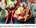 Ramen. Traditional japanese noodle soup with pork 42949795