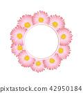 Pink Aster, Daisy Flower Banner Wreath 42950184