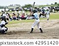 男孩棒球擊球手 42951420