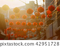 Chinese new year lanterns in china town. Against the light photo 42951728