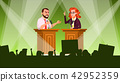 Political Meeting Vector. Political Campaign. Tribune. Speaker Training. Persuades To Vote 42952359
