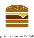เบอร์เกอร์,ไอคอน,อาหาร 42953368