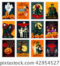 Halloween holiday trick or treat greeting card 42954527