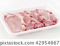 돼지 고기 스테이크 (등심) 42954667