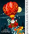 christmas, santa, card 42954682