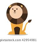 Vector nursery cute wild mammal animal lion 42954981