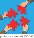 Solution Concept Vector. Businessman Hands Connecting Puzzle Pieces. Successful Launch Of Startup 42955062