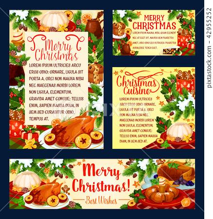 Christmas holiday cuisine festive dinner banner 42955252