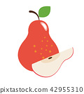 Healthy organic red pear 42955310
