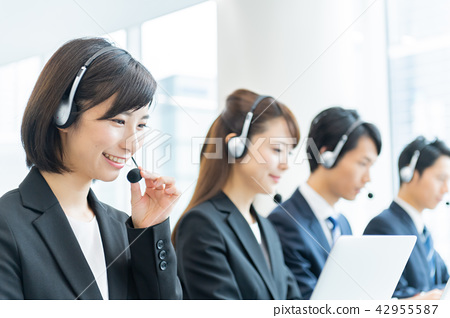 運營商,呼叫中心,西裝,工作人員,男人和女人 42955587