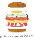 Delicious breakfast hamburger 42956721