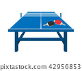 ping-pong table vector 42956853
