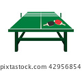 ping-pong table vector 42956854