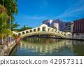 historic arch bridge jambatan bus station melaka 42957311