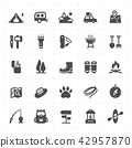 Icon set - Camping filled icon style vector  42957870