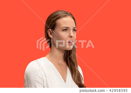 Annoyed young woman feeling frustrated with something. Human facial expressions, emotions and 42958395