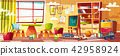 Vector cartoon kindergarten for children, playground room 42958924