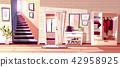 Hallway room interior vector illustration 42958925