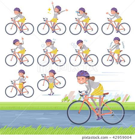 flat type Behind knot hair women_road bike 42959004