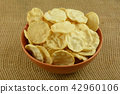 Healthy crispy hummus chips alternative 42960106