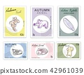 Post Stamps Set of Autumn Animals and Plants 42961039