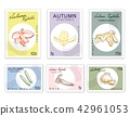 Post Stamps Set of Autumn Vegetables 42961053