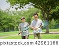 ภาพกีฬาเทนนิสคู่กลาง 42961166