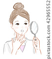 A girl with a magnifying glass 42965552