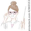 戴眼鏡的女孩 42965553