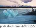 Ice blue at Diamond Beach Iceland. 42966227