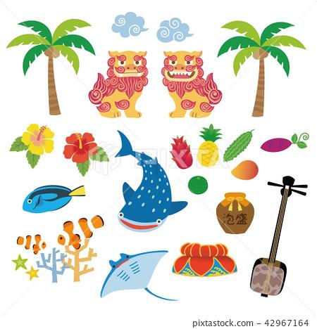 沖繩旅遊特產材料插圖 42967164