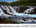 Bruarfoss waterfall. The Blue waterfall in Iceland 42967208