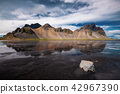 Vestrahorn Stockknes mountain ,Iceland Summer. 42967390
