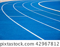 running track blue color 42967812